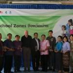 """เทศบาลเมืองน่านเปิดโครงการ """"เขตโรงเรียนปลอดภัยแห่งแรกในประเทศไทย"""" (14.พ.ย.58)"""