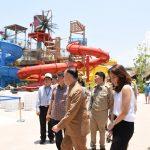 ตรวจระบบความปลอดภัยสวนน้ำ วานานาวา และสวนสนุก ซานโตรินี่ พาร์ค (02 พ.ค.2559)