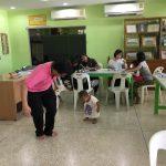 ลงพื้นที่ตรวจร่างกาย ประเมินพัฒนาการเด็ก จัดการความเสี่ยงการบาดเจ็บของเด็ก เขตมีนบุรี ( 16 ก.ย.2561 )