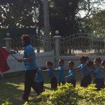 ฝึกซ้อมดับเพลิงและอพยพเด็กในศูนย์พัฒนาเด็กเล็กบ้านหนองกระทุ่ม จ.นครปฐม ( 25 ธ.ค.2561 )