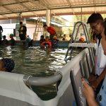 ศูนย์ฝึกทักษะเอาชีวิตรอดทางน้ำ โรงเรียนบ้านกระเทียม จ.สุรินทร์( 20 ก.พ.2562 )