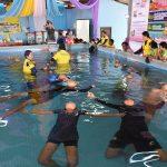 ศูนย์ฝึกว่ายน้ำเพื่อเอาชีวิตรอด อบต.บ้านจารย์ จ.สุรินทร์ ( 20 ก.พ.2562 )