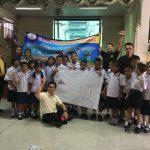 กิจกรรมรณรงค์ เด็กไทยข้ามถนนปลอดภัย โรงเรียนวัดใหม่อมตรส กทม. ( 28 พ.ค.2562 )
