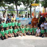 """พิธีเปิดสนามเด็กเล่น """"สนามเด็กเล่นได้เล่นดี"""" โรงเรียนวัดสุวรรณาราม จ.นครปฐม ( 11 ก.ค.2562 )"""